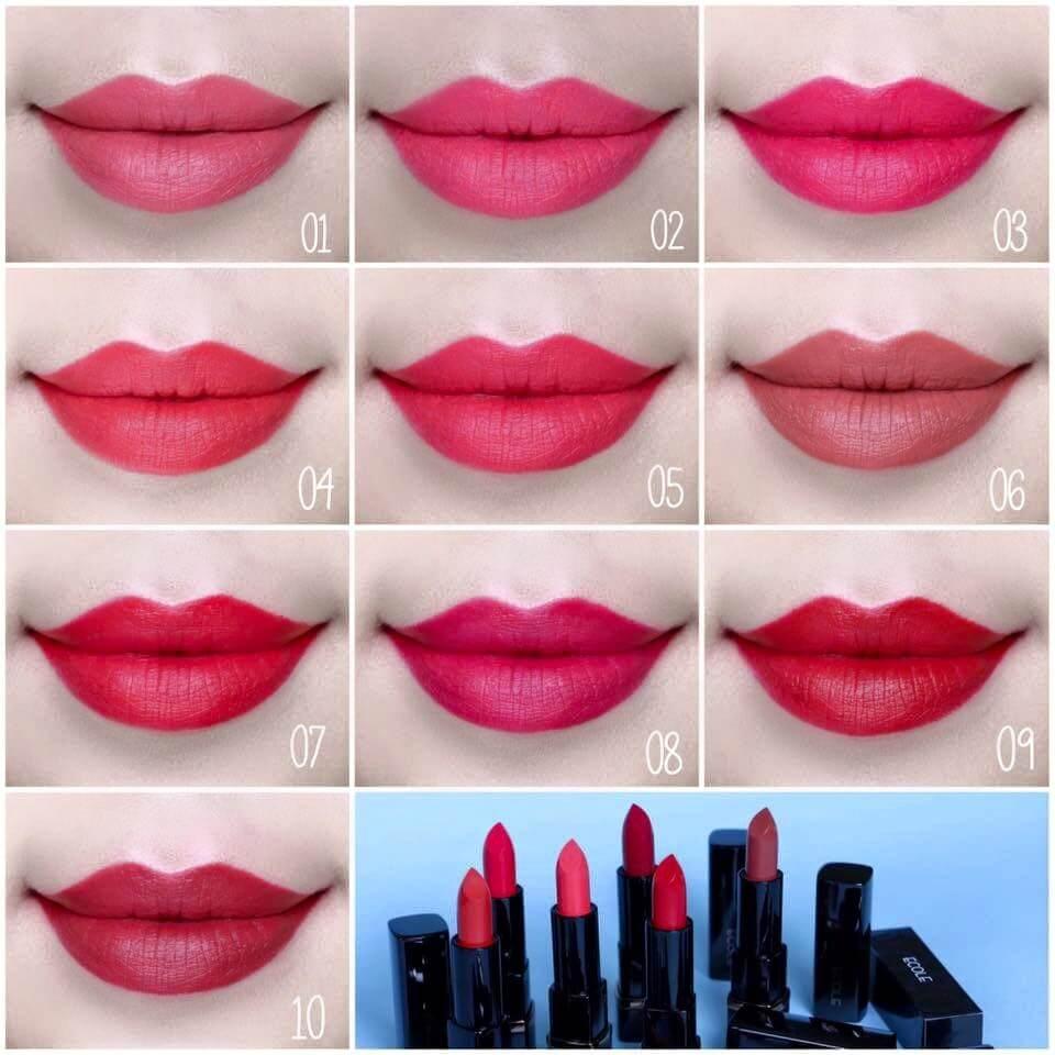 Ecole Shine Black Lipstick