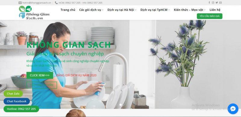 dịch vụ vệ sinh nhà cửa sài gòn