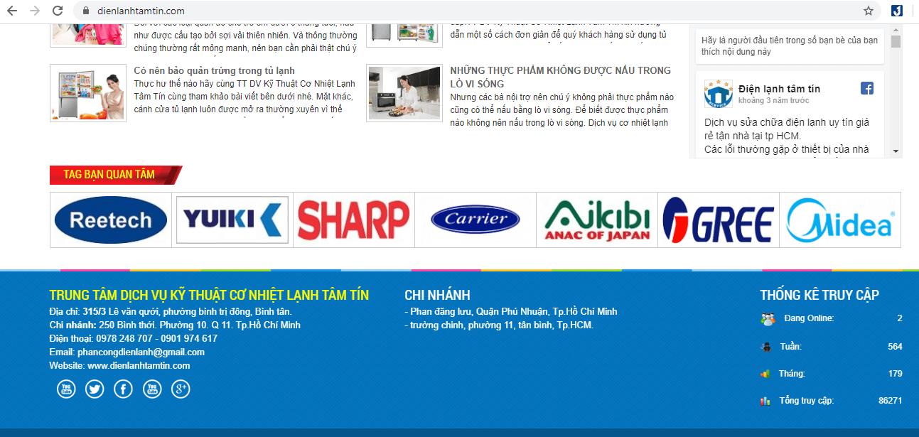địa chỉ sửa máy giặt ở TP HCM