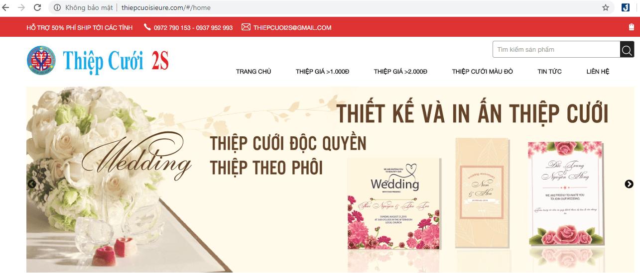 in thiệp cưới ở TP HCM