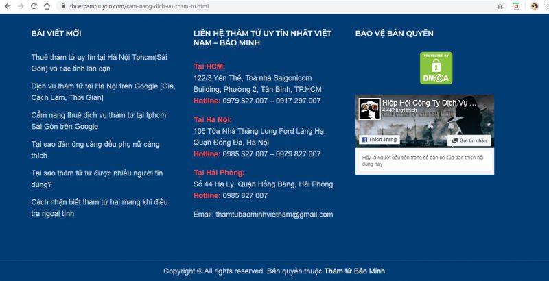 dịch vụ thuê thám tử Sài Gòn