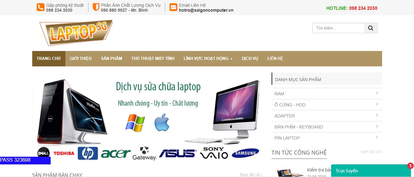 sửa máy tính Sài Gòn