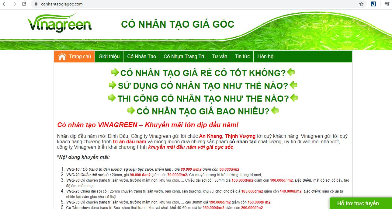 Công Ty Cung Cấp Mặt Cỏ Nhân Tạo Sài Gòn