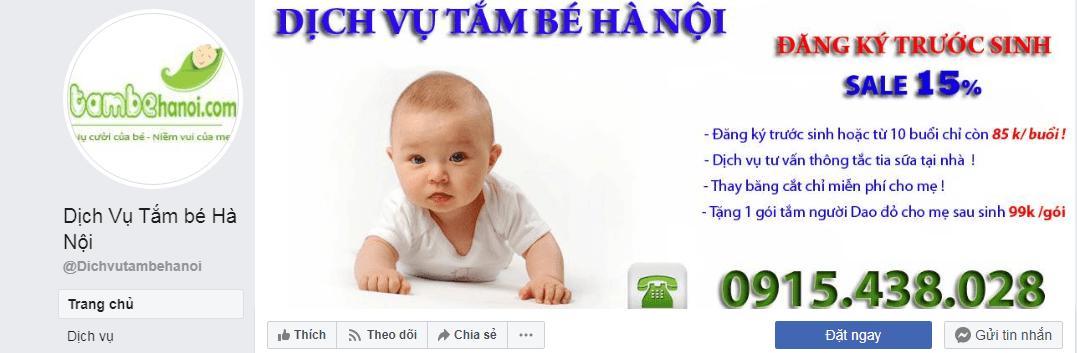 dịch vụ chăm sóc mẹ và bé Hà Nội