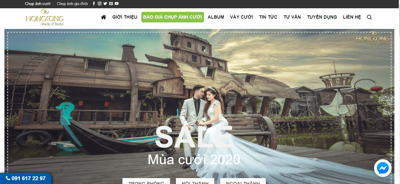 chụp ảnh kết hôn thủ đô
