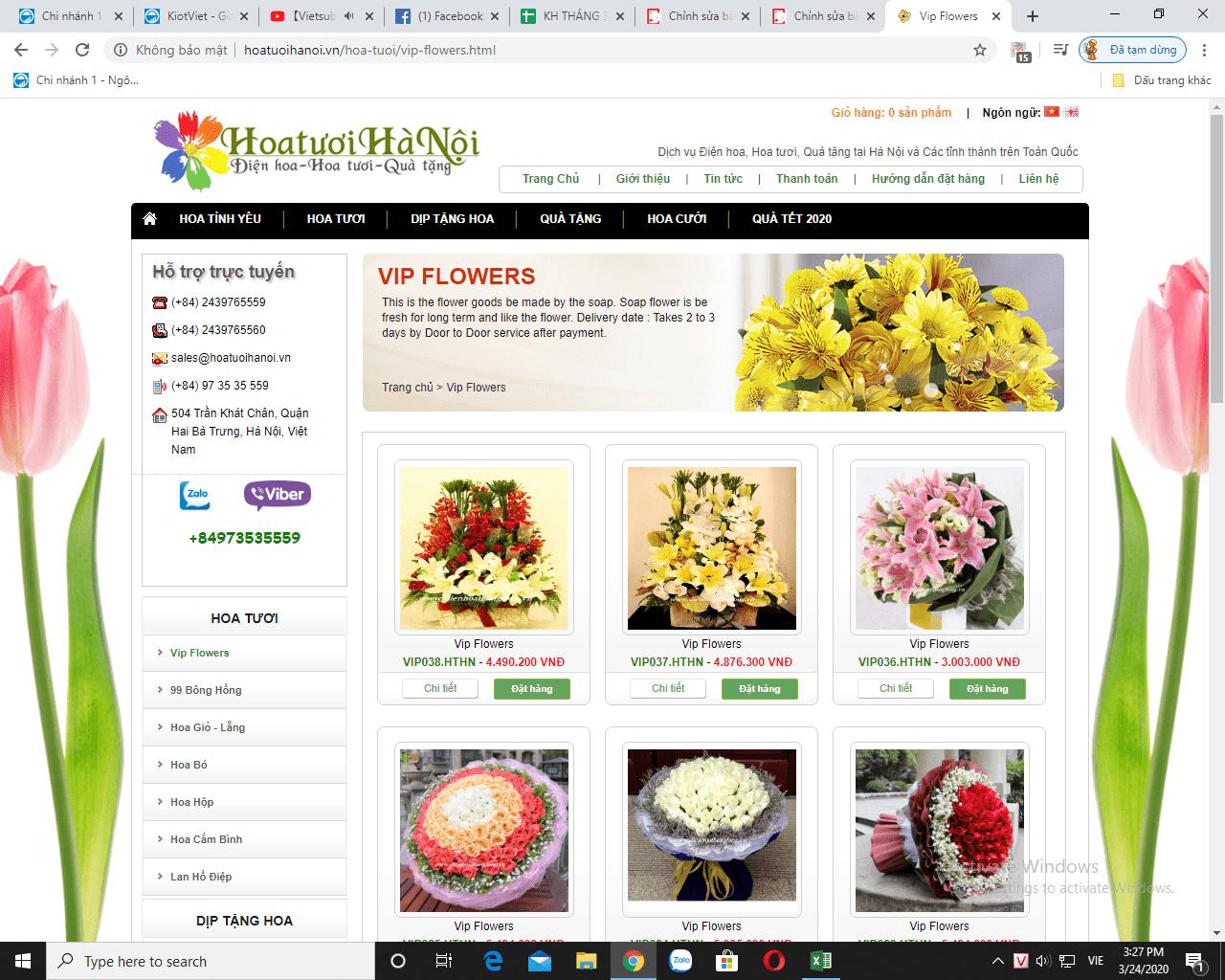 Dịch vụ hoa tươi Hà Nội