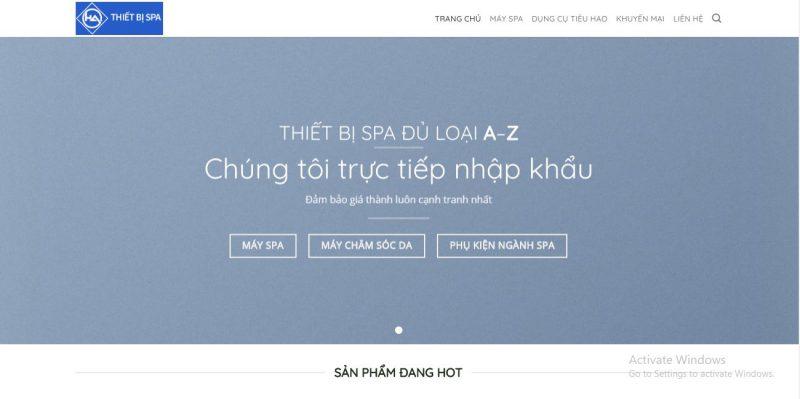 thiết bị spa tại Đà Nẵng