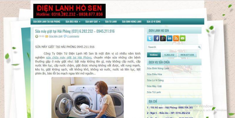 thợ sửa chữa máy giặt Hải Phòng