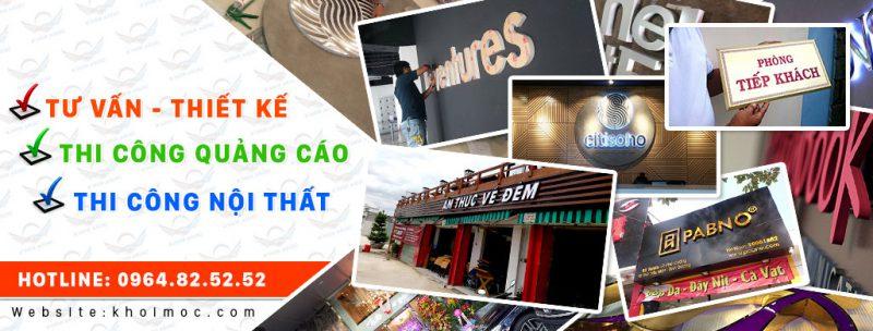 dịch vụ làm biển quảng cáo Sài Gòn