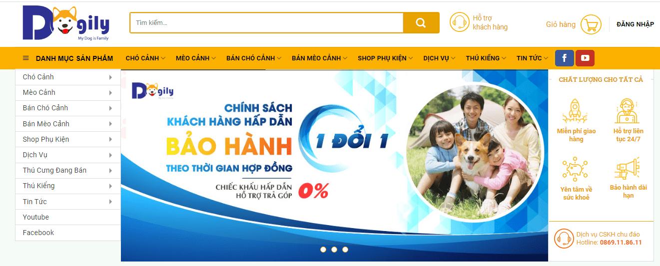 shop chó cảnh Hà Nội