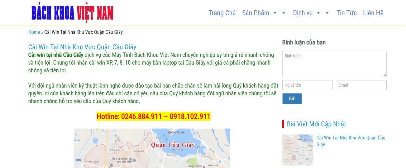 sửa máy tính ở Hà Nội
