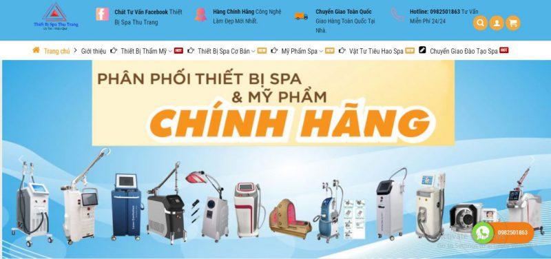 điểm địa cung cấp thiết bị spa chất lượng Đà Nẵng