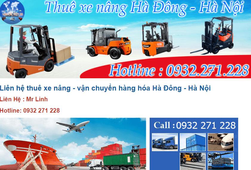 thuê xe nâng ở Hà Nội