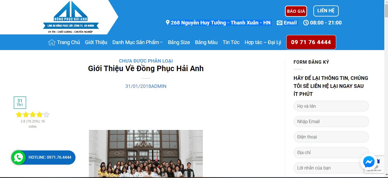 xưởng may áo lớp Hà Nội