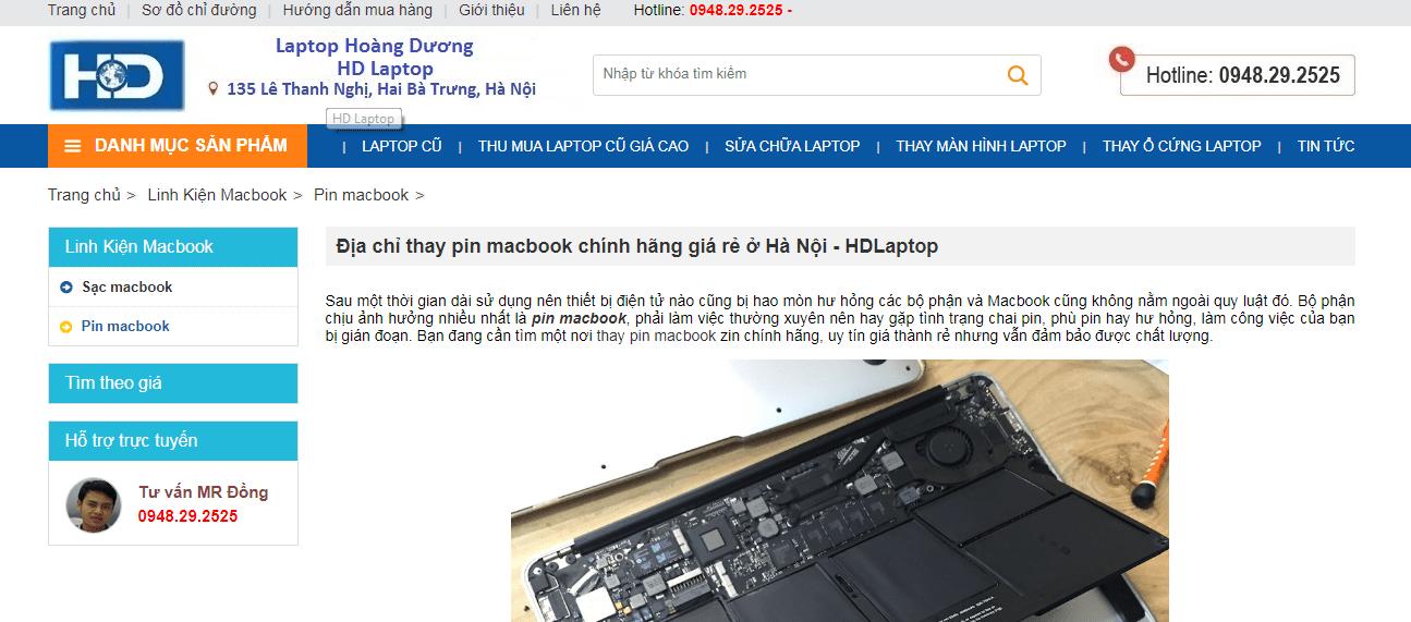 thay pin macbook hà nội