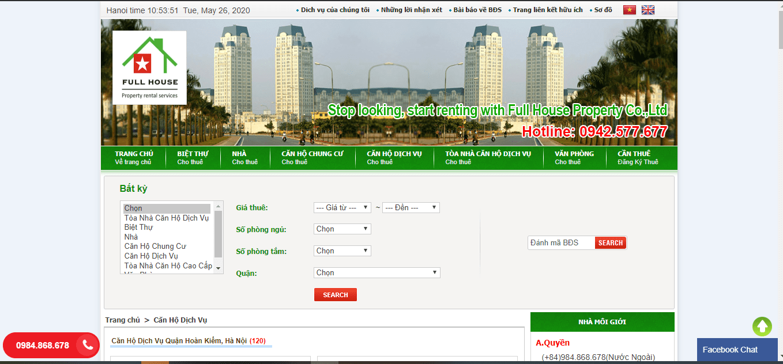 thuê căn hộ cao cấp tại Hà Nội