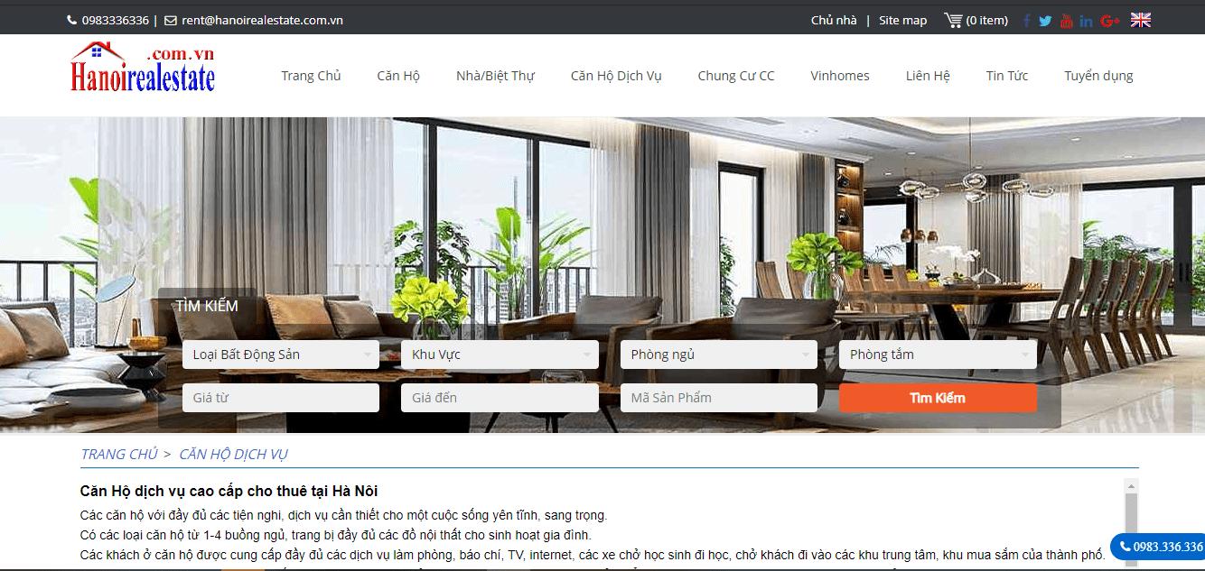 cho thuê căn hộ trung tâm Hà Nội