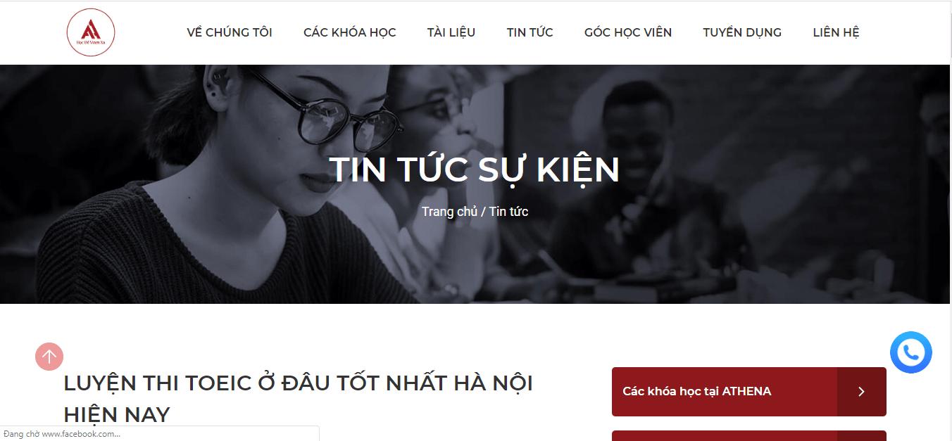 trung tâm tiếng anh dạy toeic thủ đô