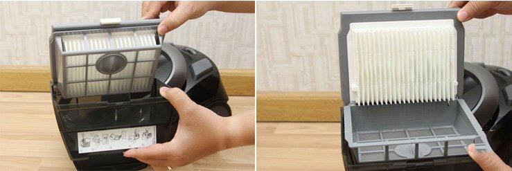 vệ sinh mang lọc cho máy hút bụi