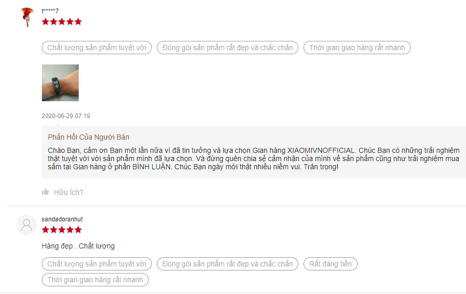 phản hồi khách hàng đồng hồ thông minh nữ