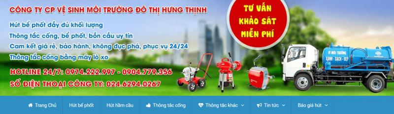 hút hầm cầu quận Hà Nội