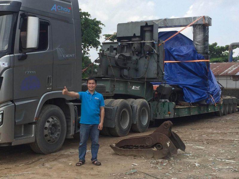 Vận chuyển máy nguyên kiện 50 tấn đi Hà Nội