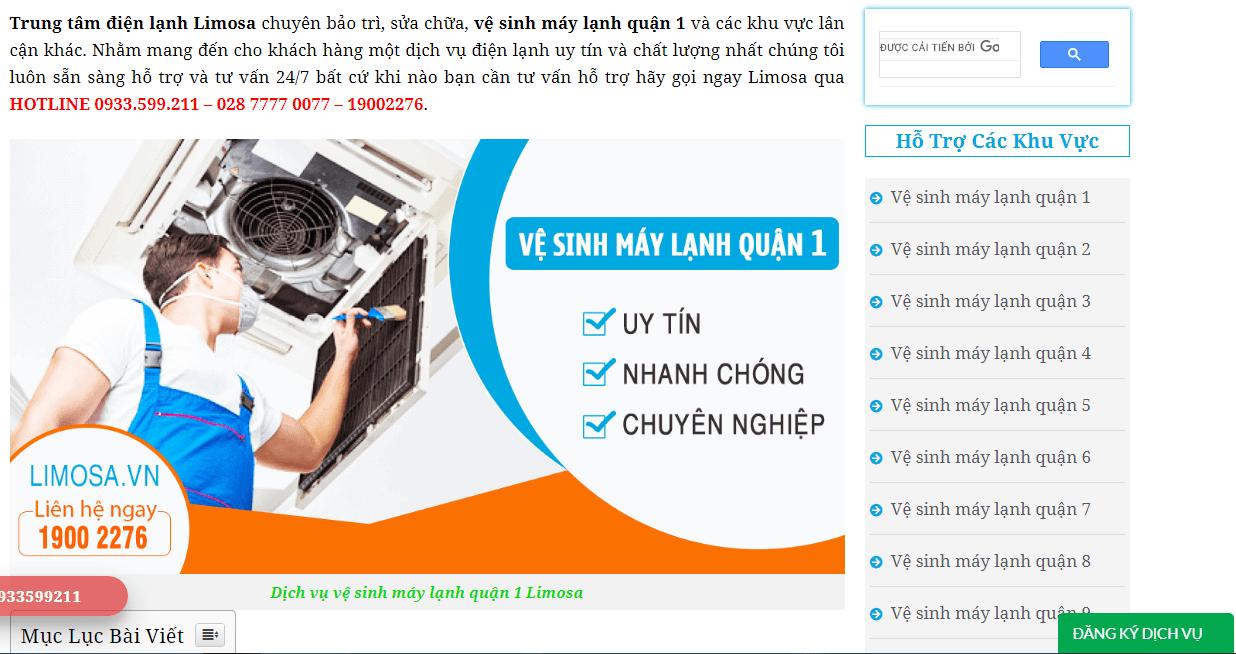 bảo trì máy lạnh q1