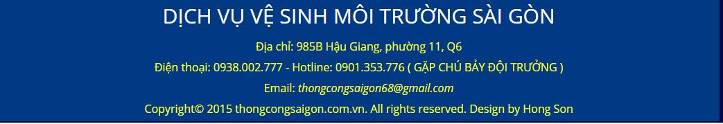 Dịch Vụ Vệ Sinh Môi Trường Sài Gòn