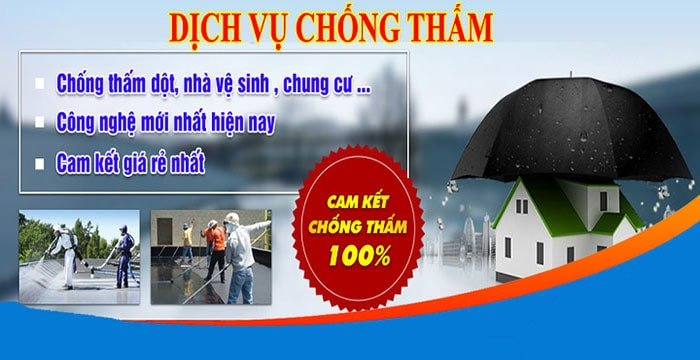 dịch vụ chống thấm tại TPHCM