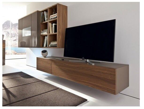 kệ để tivi phòng khách bằng gỗ
