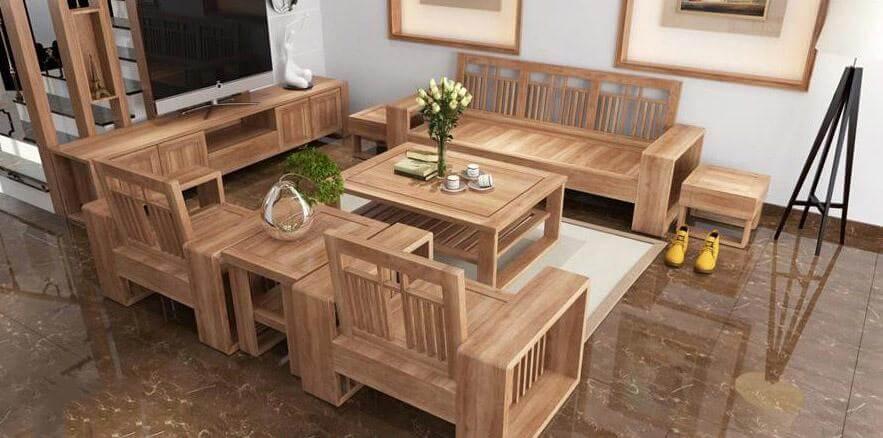 Bộ bàn ghế sáng màu đơn giản