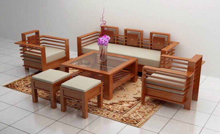 Bộ bàn ghế đơn giản, thanh lịch