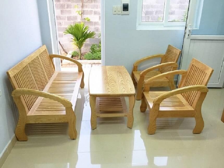 Mẫu bộ bàn ghế phòng khách gọn gàng