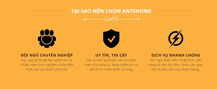 Sửa Điện Nước Antshome Uy Tín