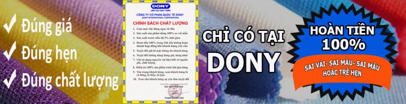 May đồng phục Dony