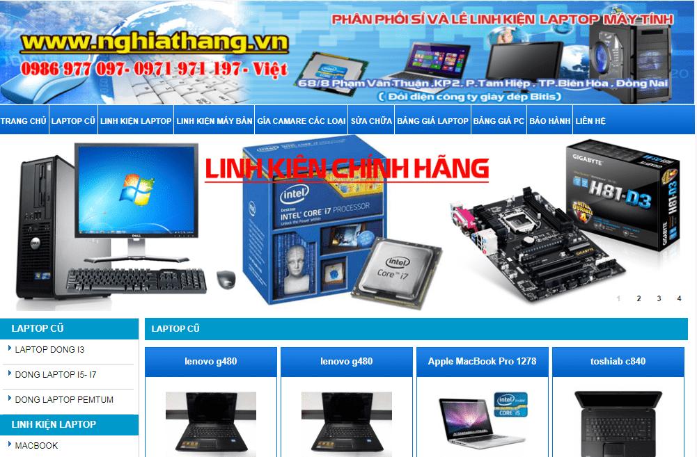 Laptop Cũ Biên Hòa Đồng Nai
