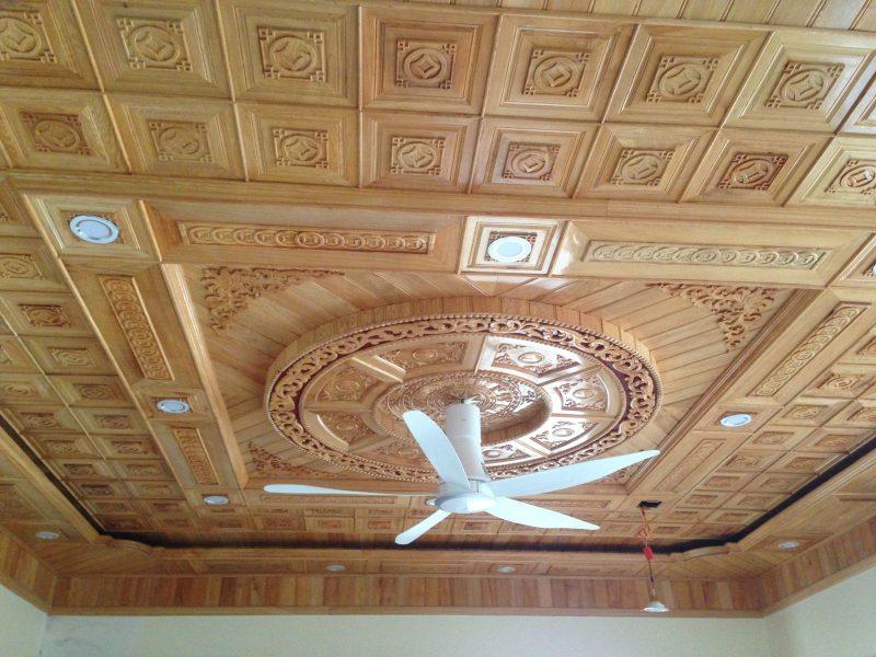 Thi công trần gỗ Bình Dương