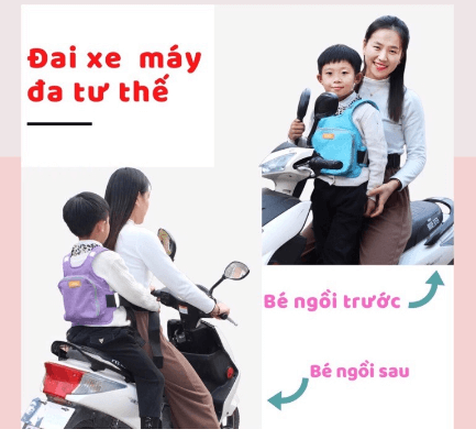 đai em bé đi xe máy