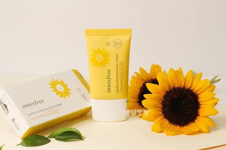 Kem Nổi Tiếng Innisfree Perfect UV Protection Cream Triple Care SPF50+