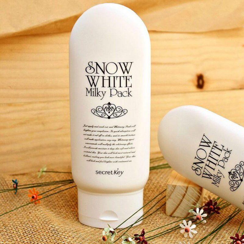 Kem Ủ Trắng Da Dành Cho Mặt Và Cơ Thể Secret Key Snow White Milky Pack 200g