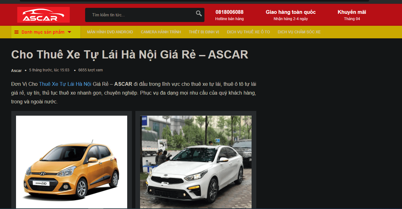 thuê xe tự lái Hà Nội