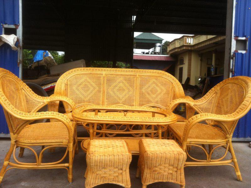 bàn ghế mây tre Hà Nội