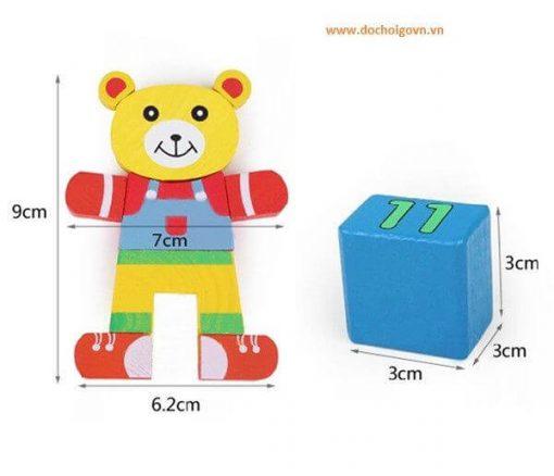Đồ chơi hộp thả khối hình gấu