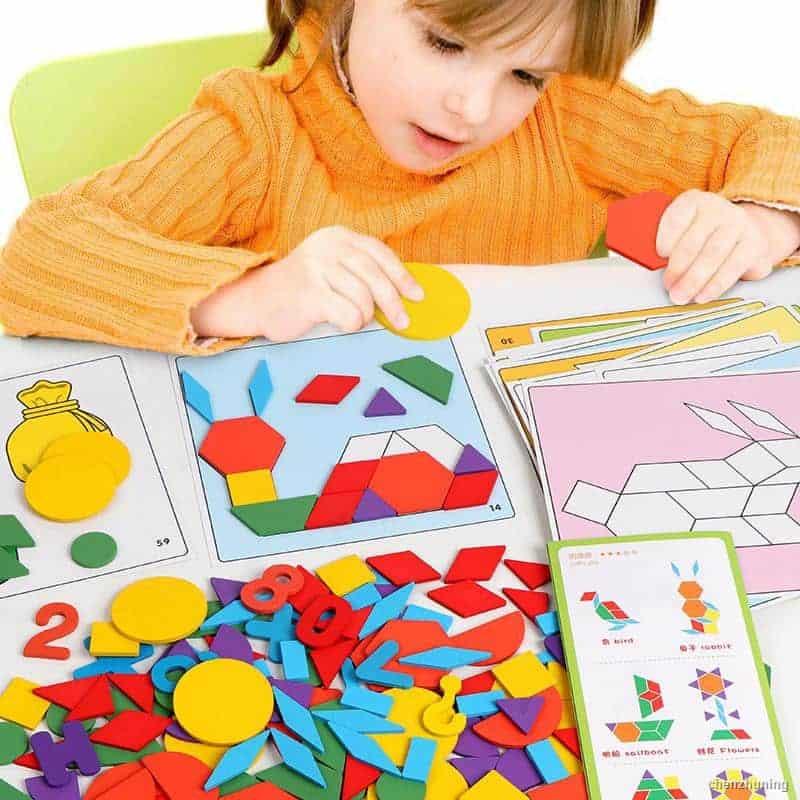 Bộ đồ chơi xếp hình thông minh cho bé gái