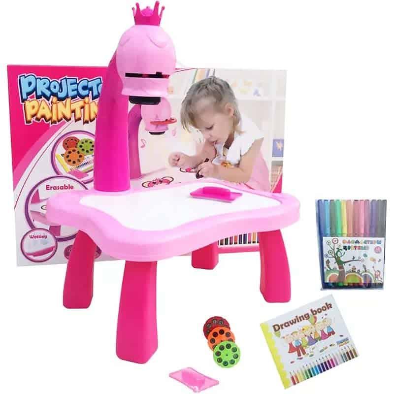 Bàn vẽ tích hợp máy hiếu cho bé gái
