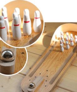 Đồ chơi bowling gỗ mini