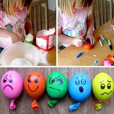 Bong bóng cảm xúc là một trong nhiều cách làm đồ chơi thông minh thú vị nhất