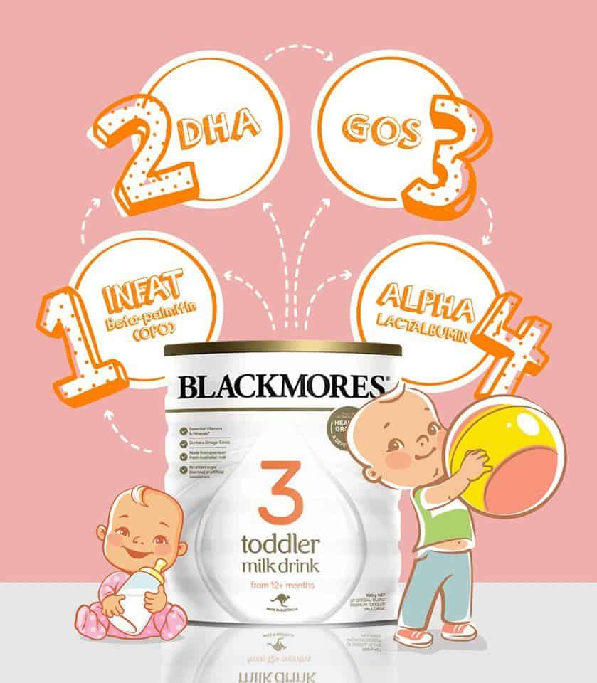 Cách pha sữa blackmore số 3