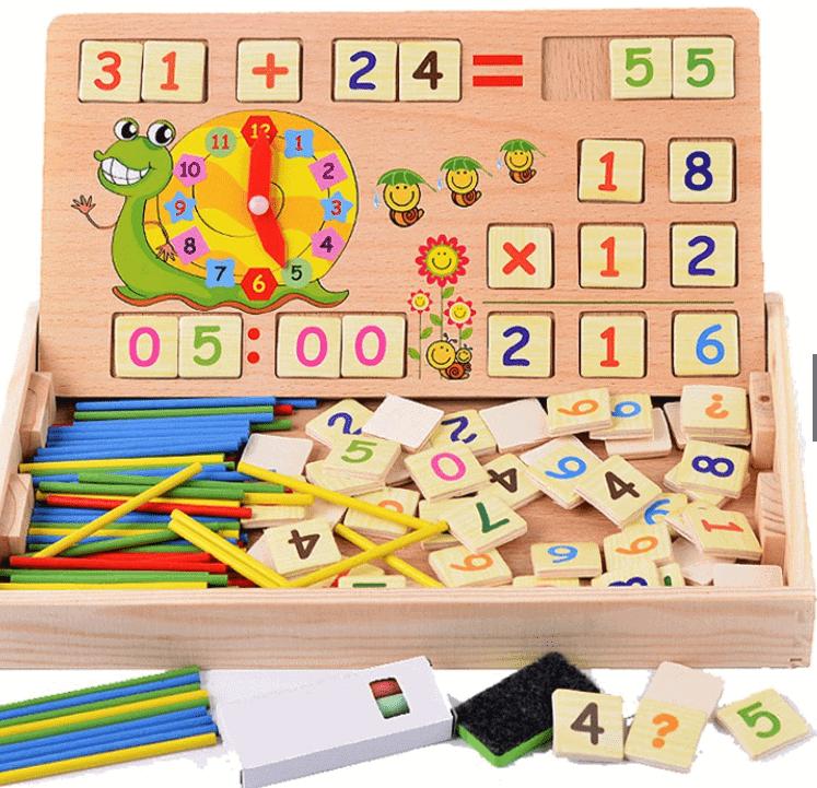 combo 3 trong 1 đồ chơi toán học cho bé