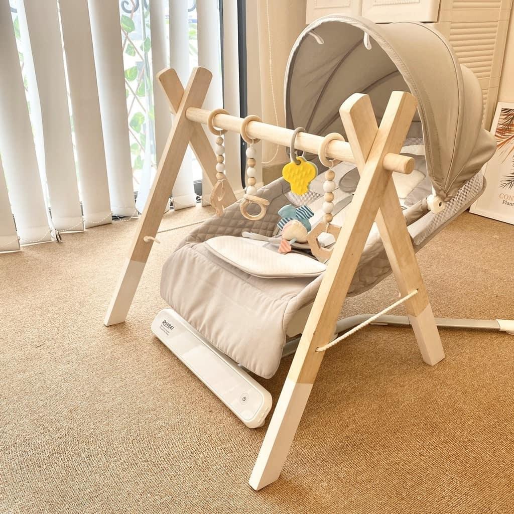 Kệ chữ A bằng gỗ an toàn cho bé